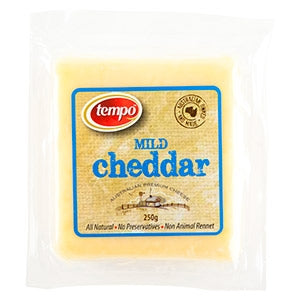 Tempo Mild Cheddar Cheese 250g