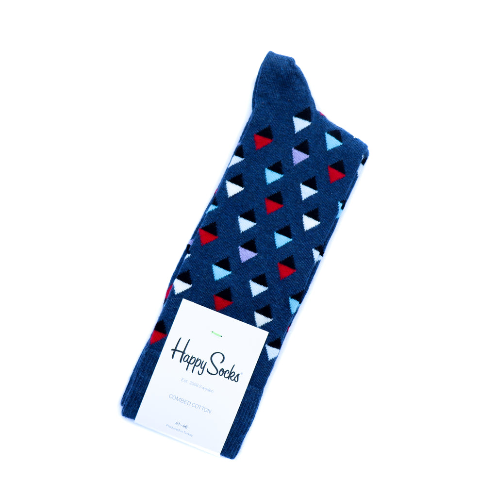 Mini Diamond Navy Socks - Mankind Co.