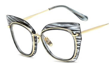 Oversized Cat Eye Glasses