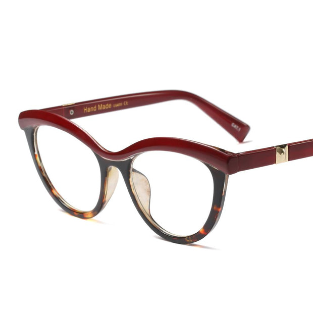 Multi-colored Burgundy frames