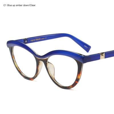 Multi-colored Blue Eyeglass Frames
