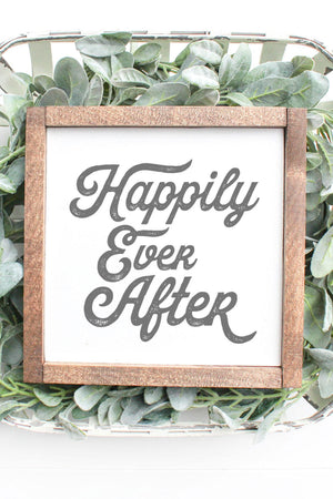 Farmhouse Wedding Collection- Happily Ever After 8x8 Sign