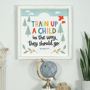 Kids Collection- Train Up a Child Sign