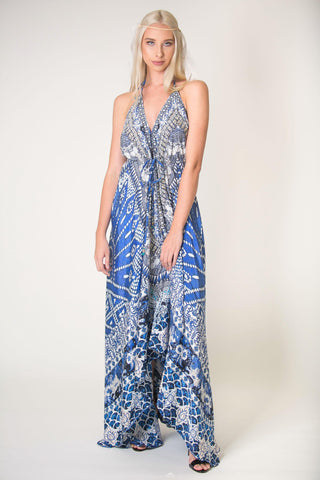 Silk Sparkling Python Scarf Dress - SALE