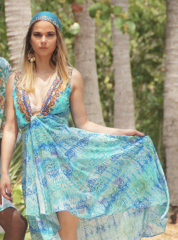 Spring Flowers Maxi Dress - SALE