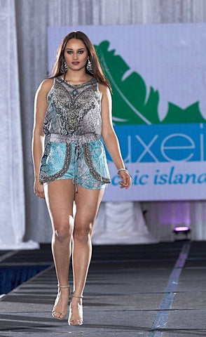 Serpentine Silk Shorts Set - www.LUXEISLE.com