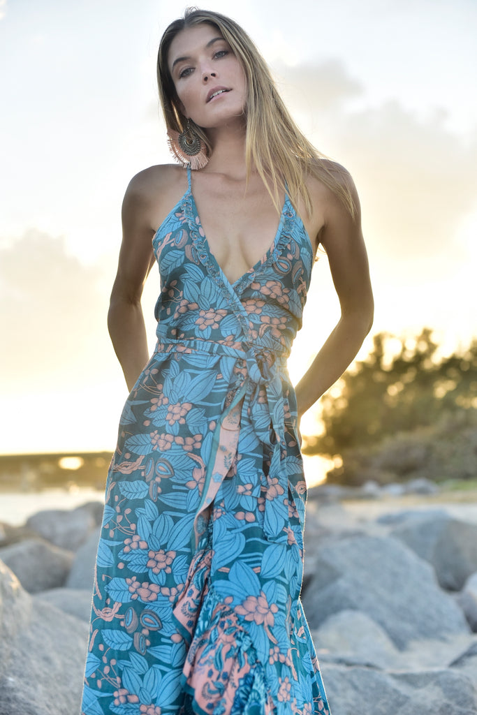 Blue Hawaiian Dress