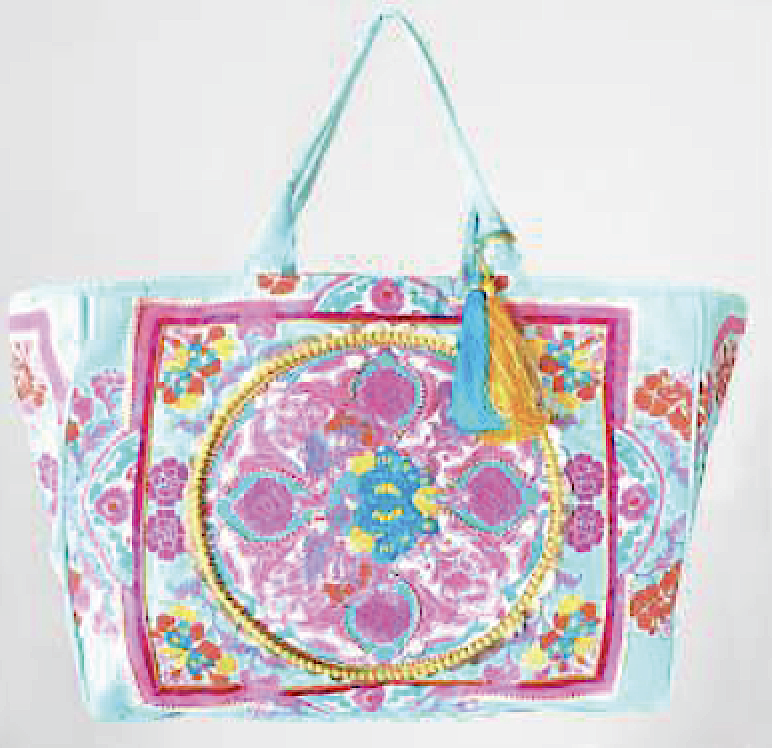 Cotton Candy Boho Tote