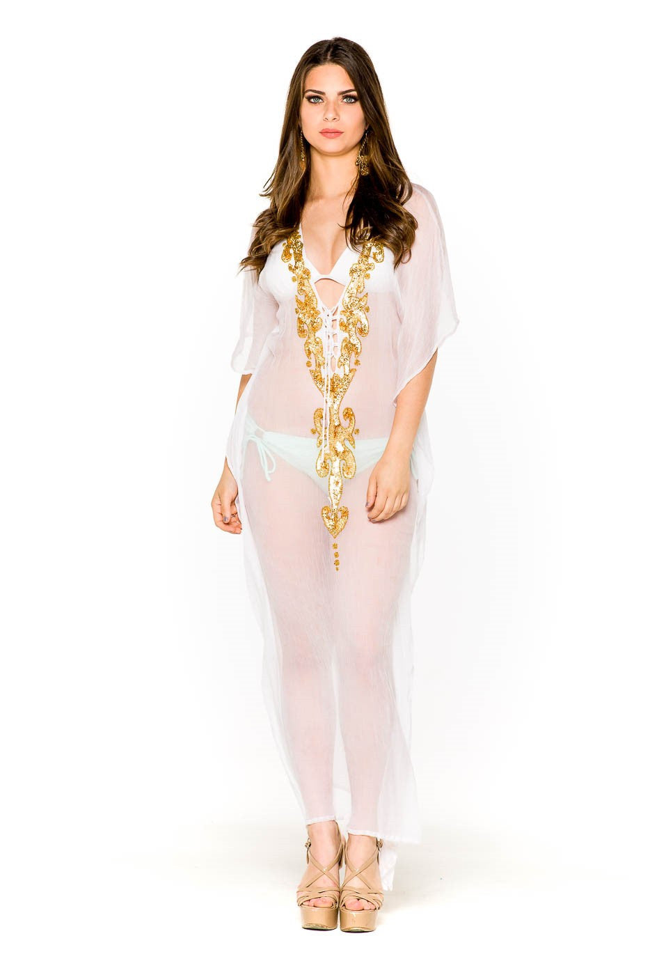 Golden Goddess Gown - SALE - www.LUXEISLE.com