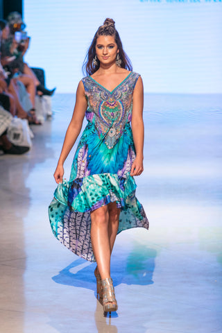 Gypsetter Feather Dress - www.LUXEISLE.com