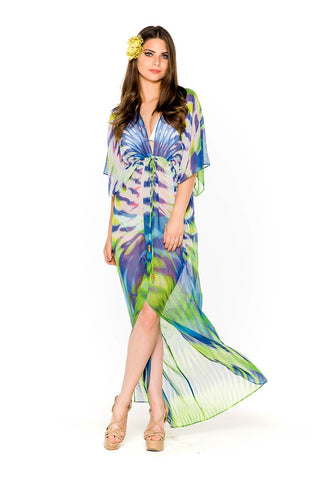 One Shoulder Shimmering Peacock Gown - SALE