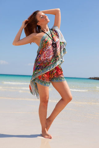 Pinky Python Shorts & Scarf Top Collection - SALE