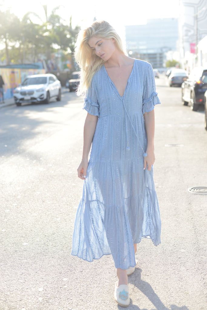 Periwinkle Shimmer Dress