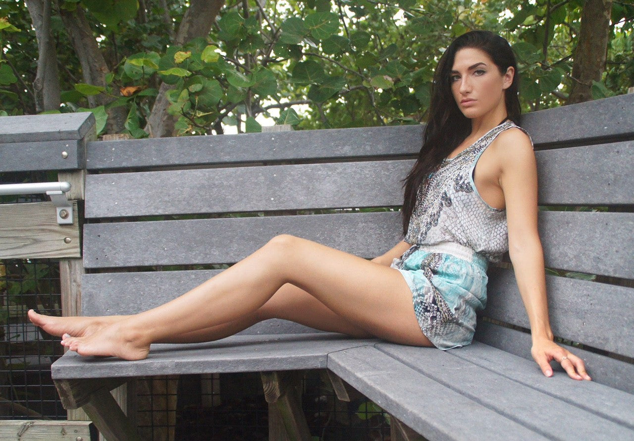 Serpentine Silk Shorts & Tank Set - www.LUXEISLE.com