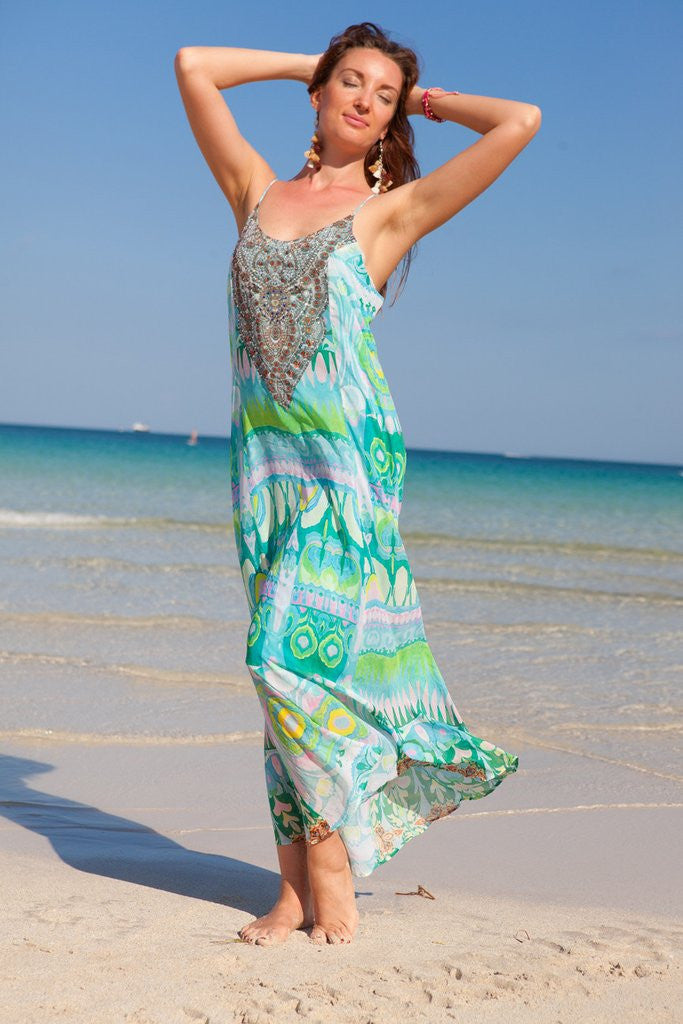 Spring Flowers Maxi Dress - SALE - www.LUXEISLE.com