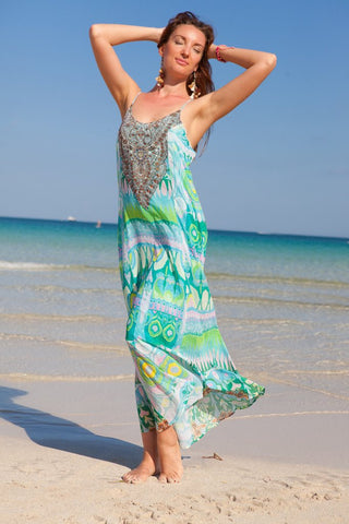 Spring Flowers Maxi Dress - www.LUXEISLE.com