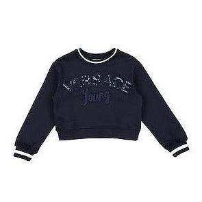 Versace: Young Girl's Navy Blue Sweater