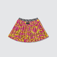 Versace: Young Fluo Barocco Pleated Skirt (KIDS)