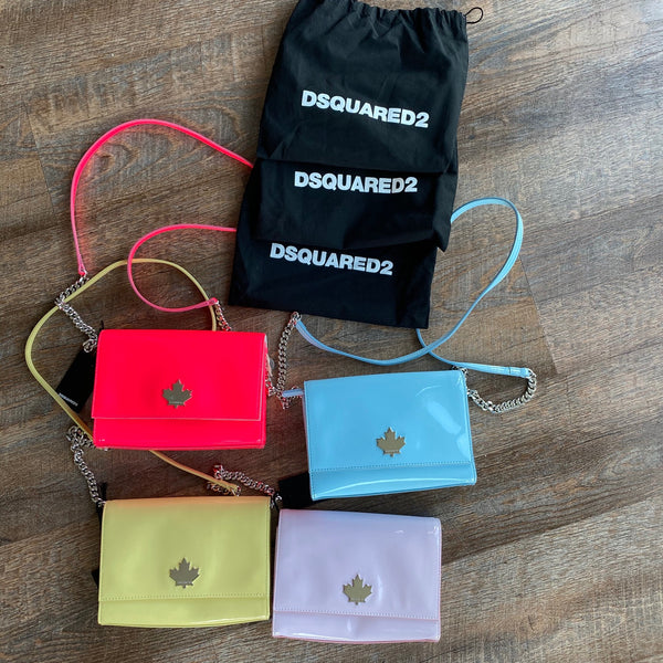 "Dsquared2: ""Disco"" Patent Cross Body Bag (4 colors)"