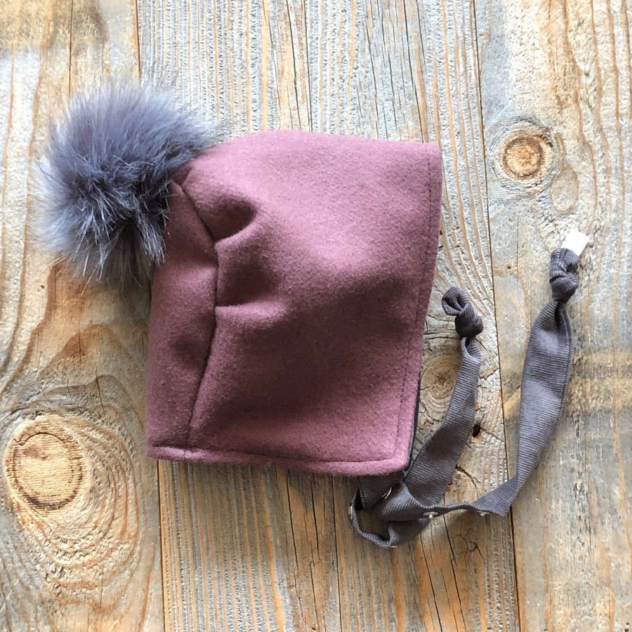 Brimless Bonnet in Fireside (add ears or poms) - bebabyco