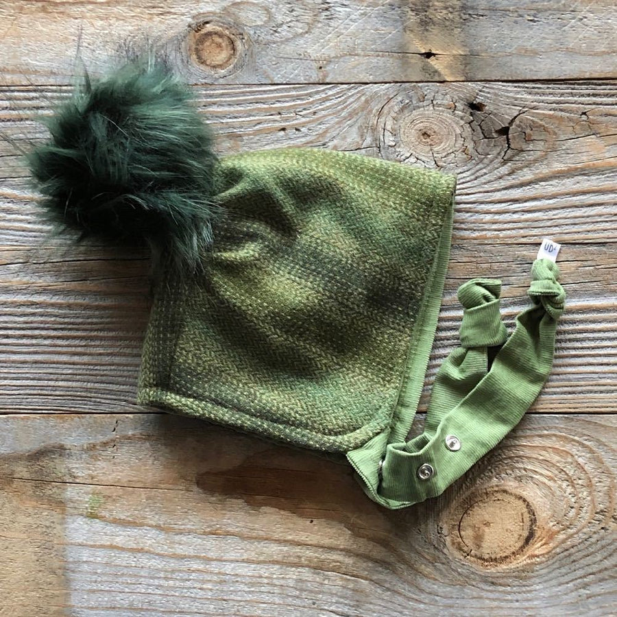 Brimless Bonnet in Balsam (add ears or poms) - bebabyco