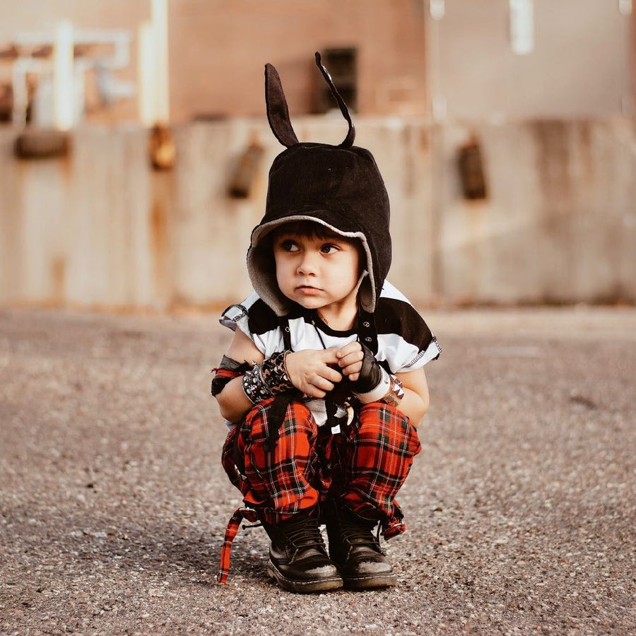 wildthings black chevron bunny ears