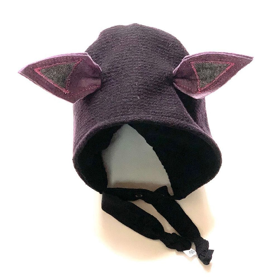 Brimless Bonnet in Midnight Moonlight (add ears or poms) - bebabyco