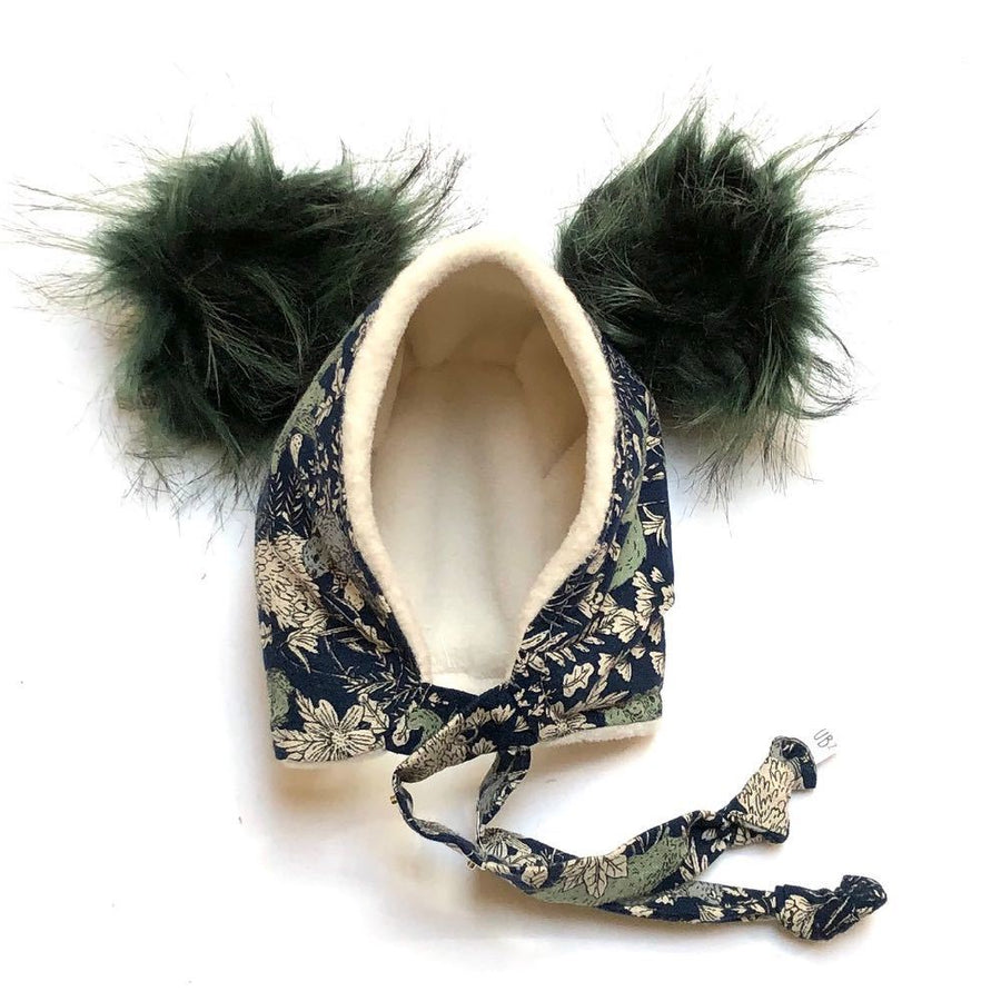 Brimless Bonnet in Forested (add ears or poms) - bebabyco