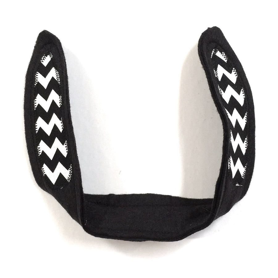 wildthings black chevron bunny ears - bebabyco