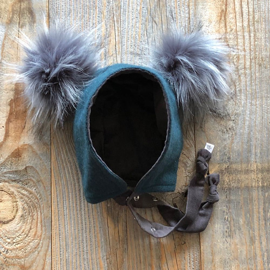 Brimless Bonnet in Loden (add ears or poms) - bebabyco