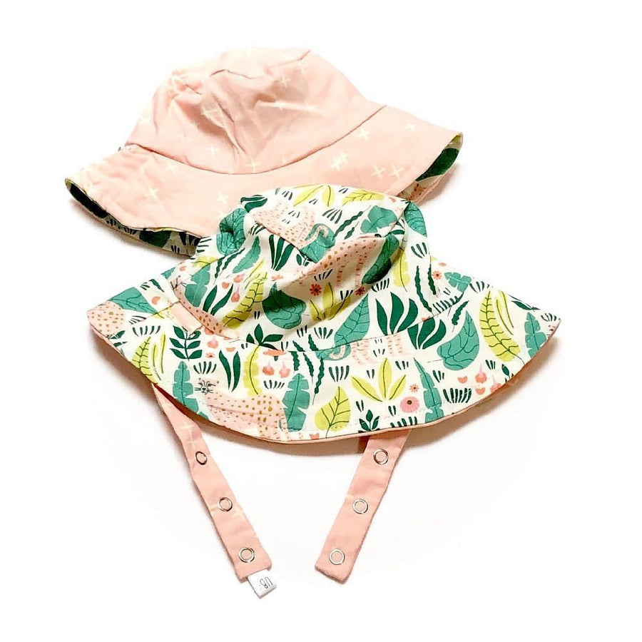 bucket hat in Organic Cheetahs - bebabyco