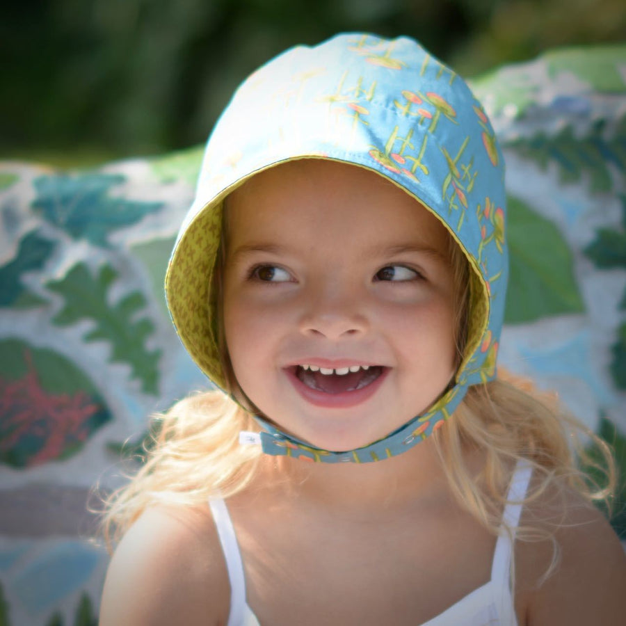 ecoBonnet in organic golden summer - bebabyco