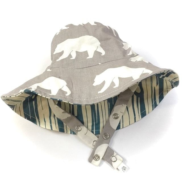 bucket hat in organic grizzly - bebabyco