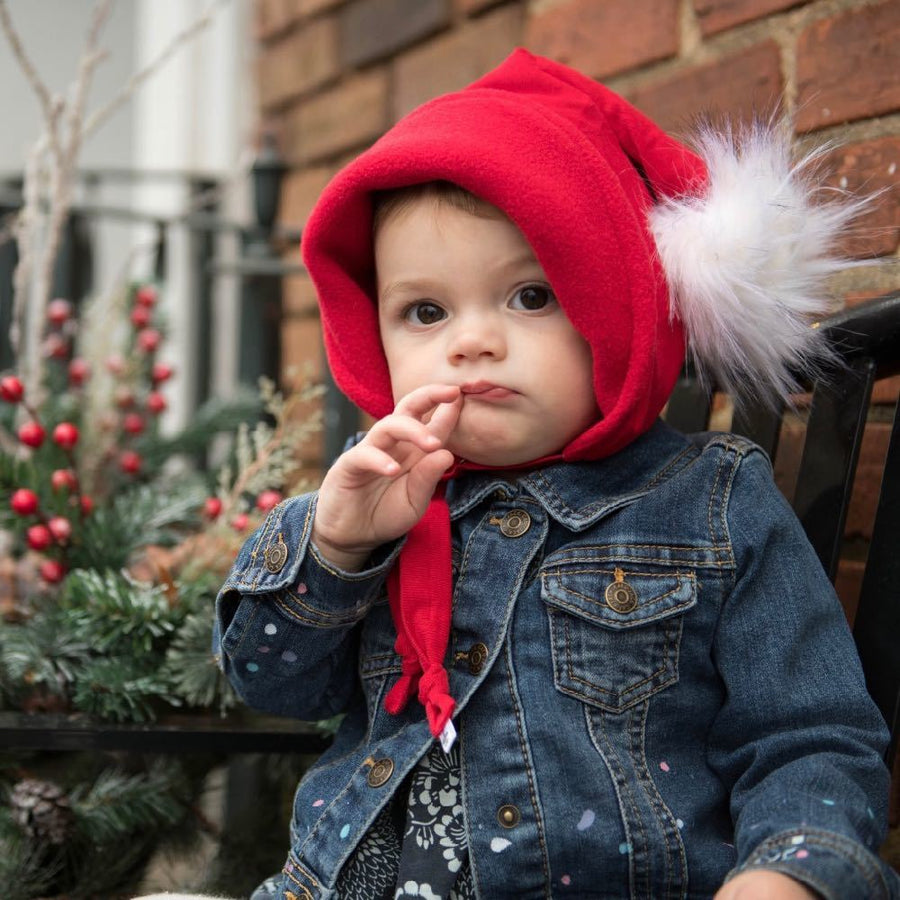 Pixie Gnome winter hat in Santa Red - bebabyco