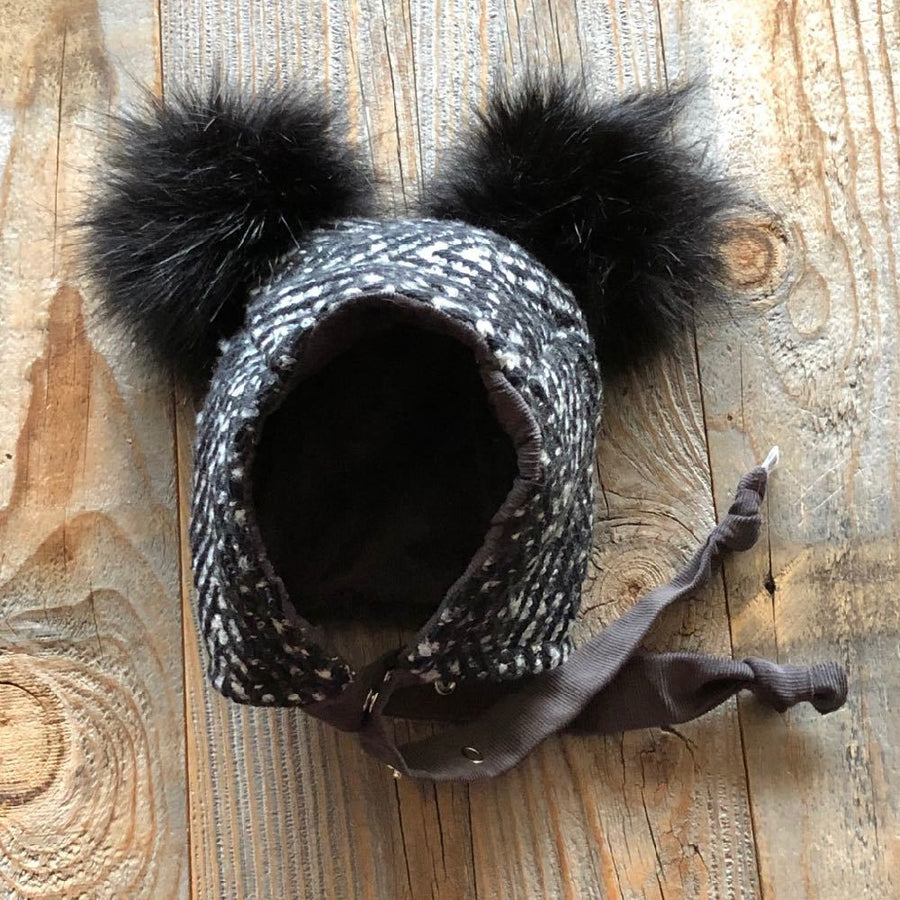Brimless Bonnet in Tweedy (add ears or poms) - bebabyco