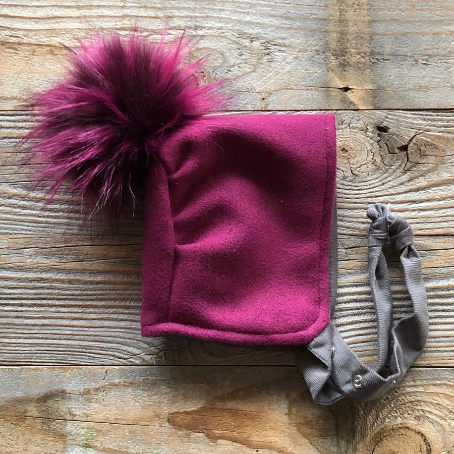 Brimless Bonnet in Vibrance (add ears or poms) - bebabyco