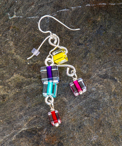 Energy Glass Bead Earrings