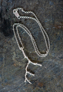 Twig Sterling Silver Pendant