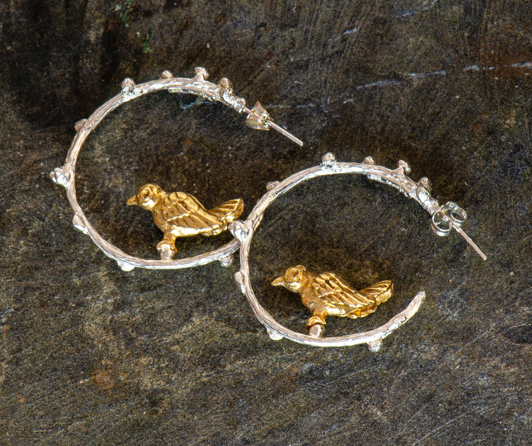 Love Bird Hoop Earrings