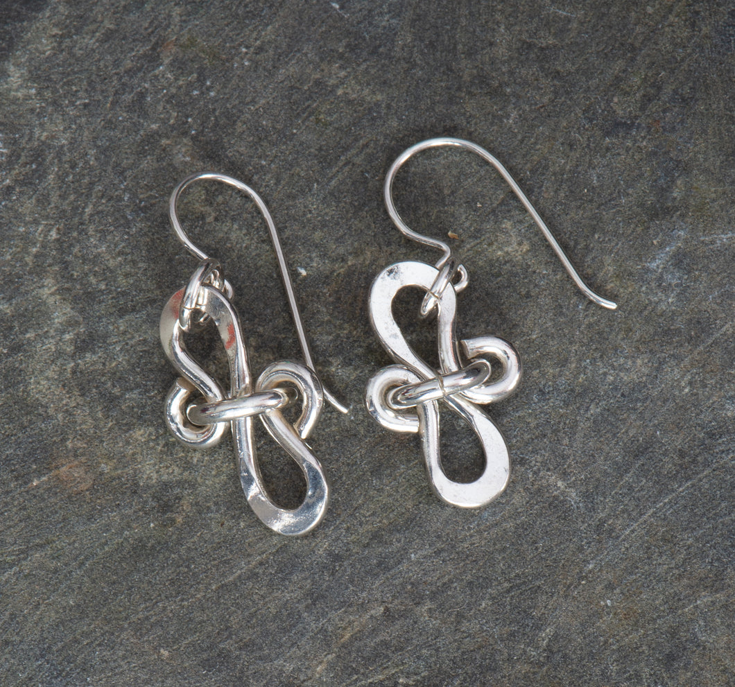 Ribbons and Curls Sterling Silver Earrings