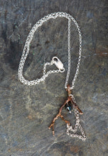 Load image into Gallery viewer, Twig Sterling Silver and Bronze Pendant