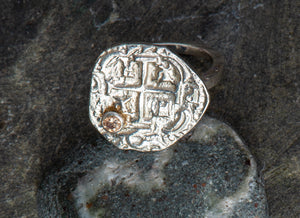Pieces of Eight Ring with Citrine