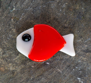 Slumped Glass Fish Magnet by School Street Art Glass