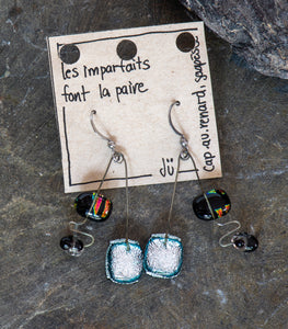 Ju - Slumped Glass Earrings