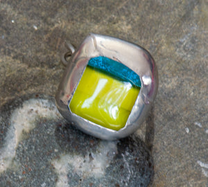 Ju - Slumped Glass Ring