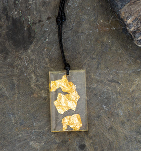 Resin with Gold Leaf Pendant