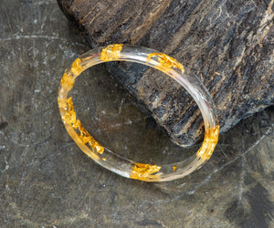 Resin Bangle with Gold