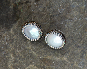 Marcasite and Pearl Earrings
