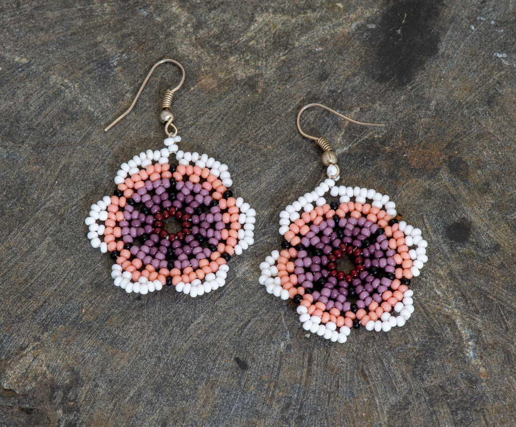 Peyote Hand Beaded Earrings