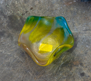 Slumped Glass Votive Holder